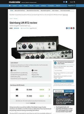 MusicRadar.com Steinberg UR-RT2, UR-RT4