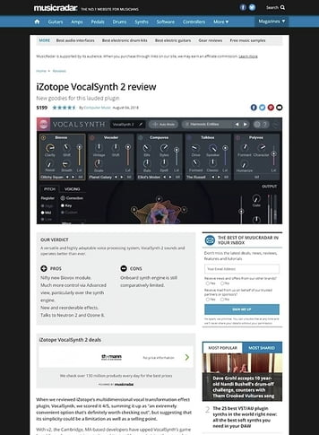 MusicRadar.com iZotope VocalSynth 2