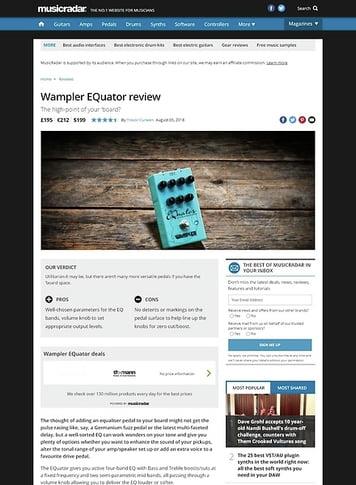 MusicRadar.com Wampler EQuator