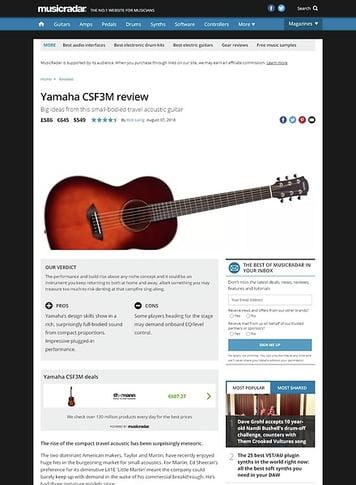 MusicRadar.com Yamaha CSF3M