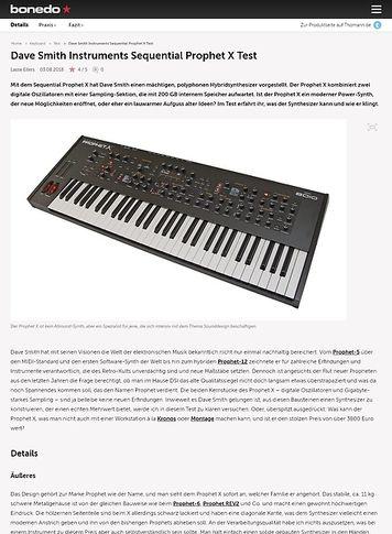 Bonedo.de Dave Smith Instruments Sequential Prophet X