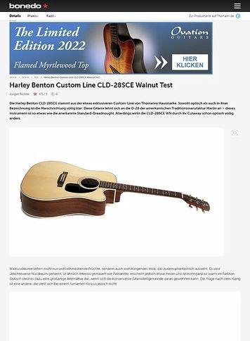 Bonedo.de Harley Benton Custom Line CLD-28SCE Walnut