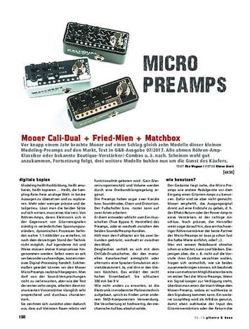 Gitarre & Bass Mooer Cali-Dual, Fried-Mien, Matchbox