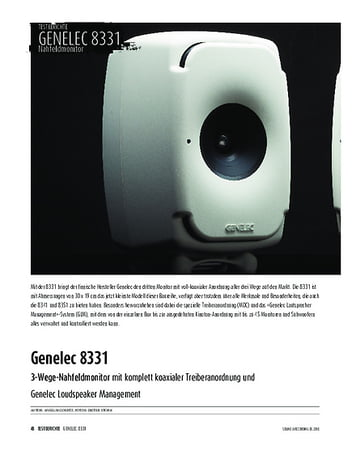Sound & Recording Genelec 8331