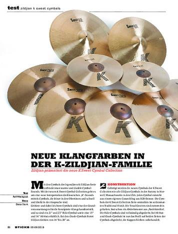 Sticks Zildjian K Sweet Cymbals