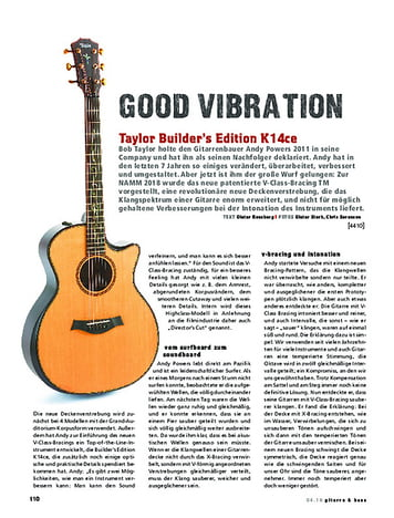 Gitarre & Bass Taylor Builder's Edition K14ce