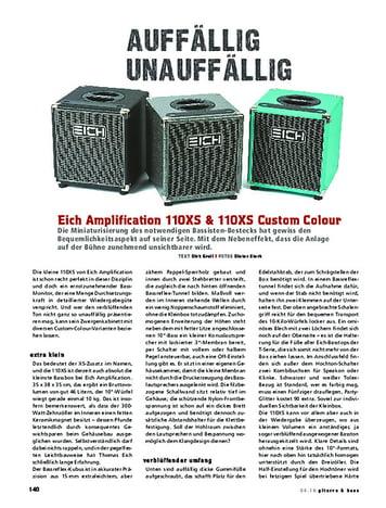 Gitarre & Bass Eich Amplification 110XS & 110XS Custom Colour