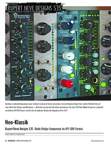 Sound & Recording Rupert Neve Designs 535