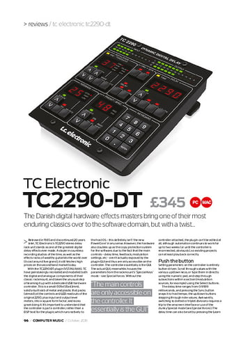 Computer Music TC Electronic TC2290-DT