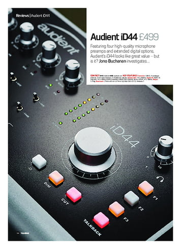 Future Music Audient iD44