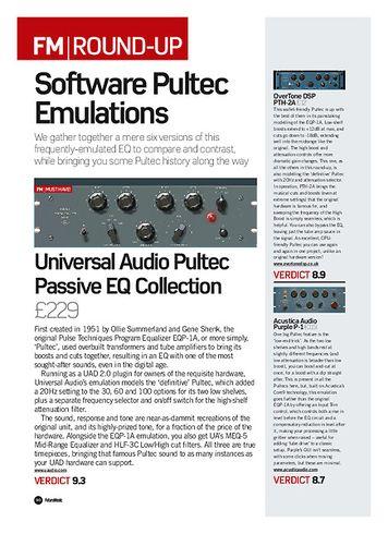 Future Music Universal Audio Pultec Passive EQ Collection
