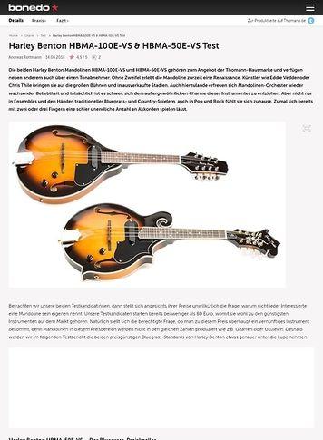 Bonedo.de Harley Benton HBMA-100E-VS & HBMA-50E-VS