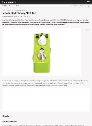 Bonedo.de Mooer Mod Factory MKII