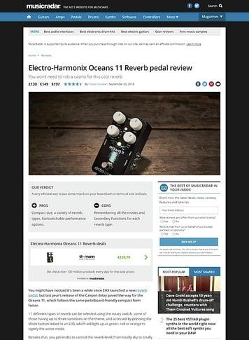 MusicRadar.com Electro-Harmonix Oceans 11 Reverb