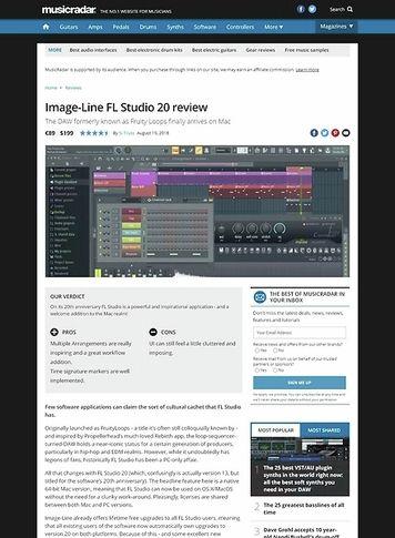 MusicRadar.com Image-Line FL Studio 20