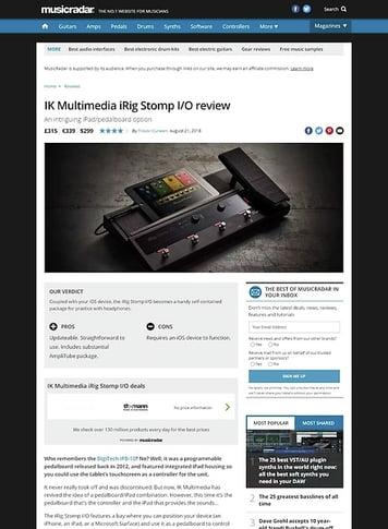 MusicRadar.com IK Multimedia iRig Stomp I/O