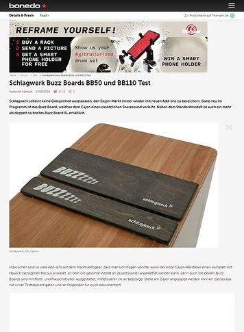 Bonedo.de Schlagwerk Buzz Boards BB50 und BB110