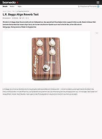Bonedo.de L.R. Baggs Align Reverb