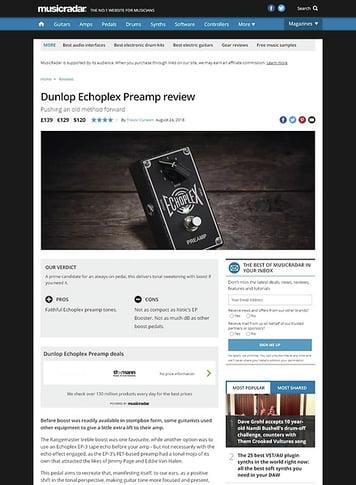MusicRadar.com Dunlop Echoplex Preamp