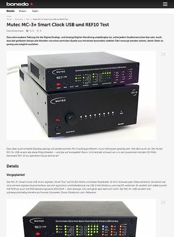 Bonedo.de Mutec MC-3+ Smart Clock USB und REF10