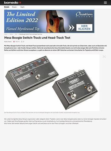 Bonedo.de Mesa Boogie Switch-Track und Head-Track