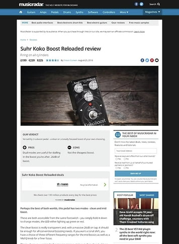 MusicRadar.com Suhr Koko Boost Reloaded
