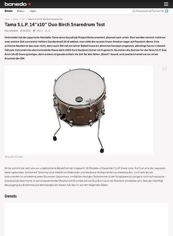Bonedo.de Tama S.L.P. 14x10 Duo Snare