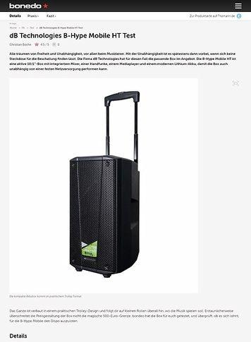 Bonedo.de dB Technologies B-Hype Mobile HT