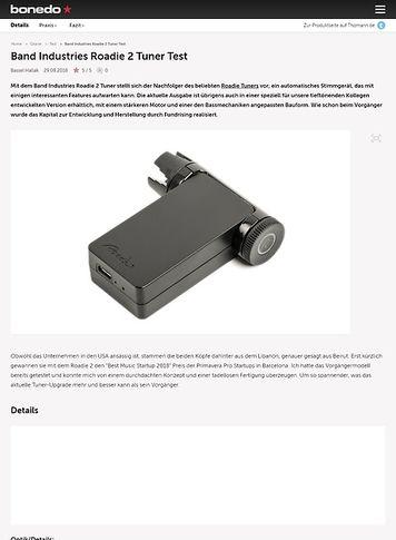 Bonedo.de Band Industries Roadie 2 Tuner