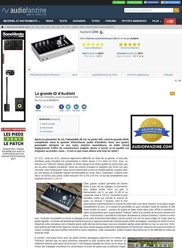 Audiofanzine.com Audient iD44