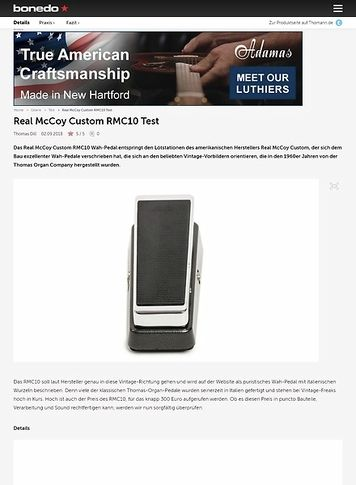 Bonedo.de Real McCoy Custom RMC10