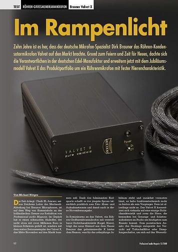 Professional Audio Im Rampenlicht: Brauner Valvet X