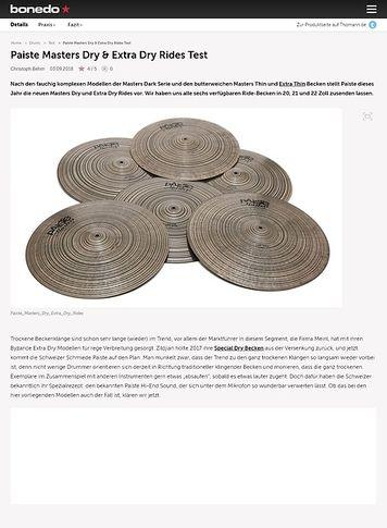 Bonedo.de Paiste Masters Dry & Extra Dry Rides