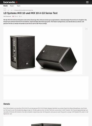 Bonedo.de LD Systems MIX 10 und MIX 10 A G3 Series
