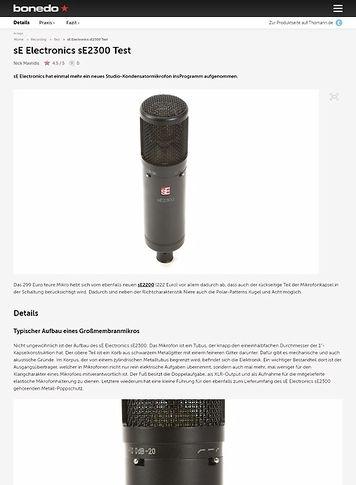 Bonedo.de sE Electronics sE2300