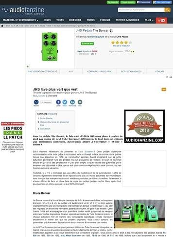 Audiofanzine.com JHS Pedals The Bonsai