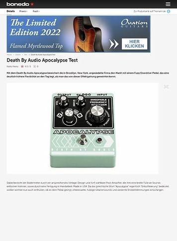 Bonedo.de Death By Audio Apocalypse