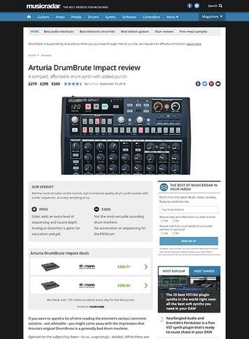 MusicRadar.com Arturia DrumBrute Impact