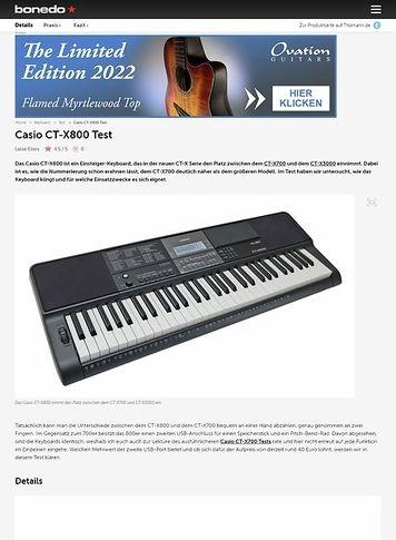 Bonedo.de Casio CT-X800
