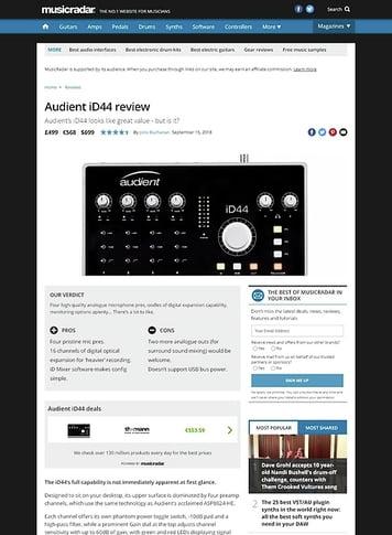MusicRadar.com Audient iD44