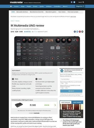 MusicRadar.com IK Multimedia UNO