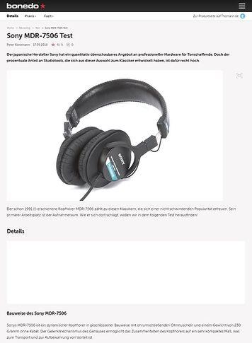Bonedo.de Sony MDR-7506