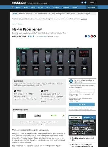 MusicRadar.com Nektar Pacer