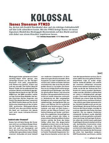 Gitarre & Bass Ibanez Stoneman FTM33