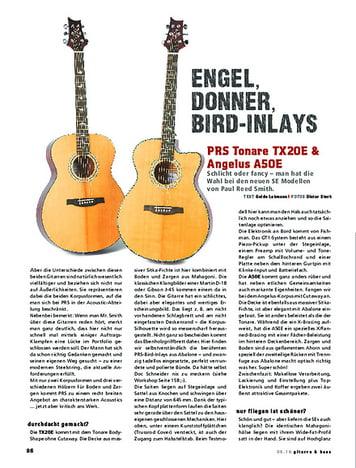 Gitarre & Bass PRS Tonare TX20E & Angelus A50E