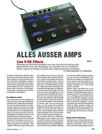 Gitarre & Bass Line 6 HX Effects