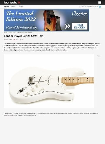 Bonedo.de Fender Player Series Strat