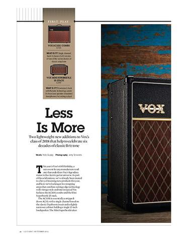 Guitarist VOX AC30S1 Combo