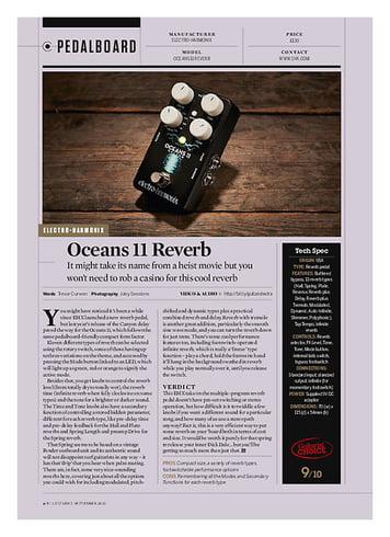 Guitarist Oceans 11 Reverb