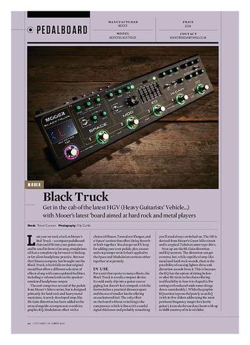 Guitarist Mooer Black Truck